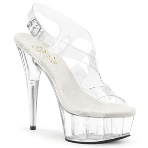 Shoes - 6 Inch High Heel Platform Transparent Clear Shoes